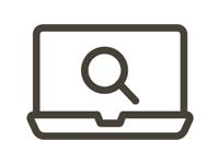Laptop Search Icon