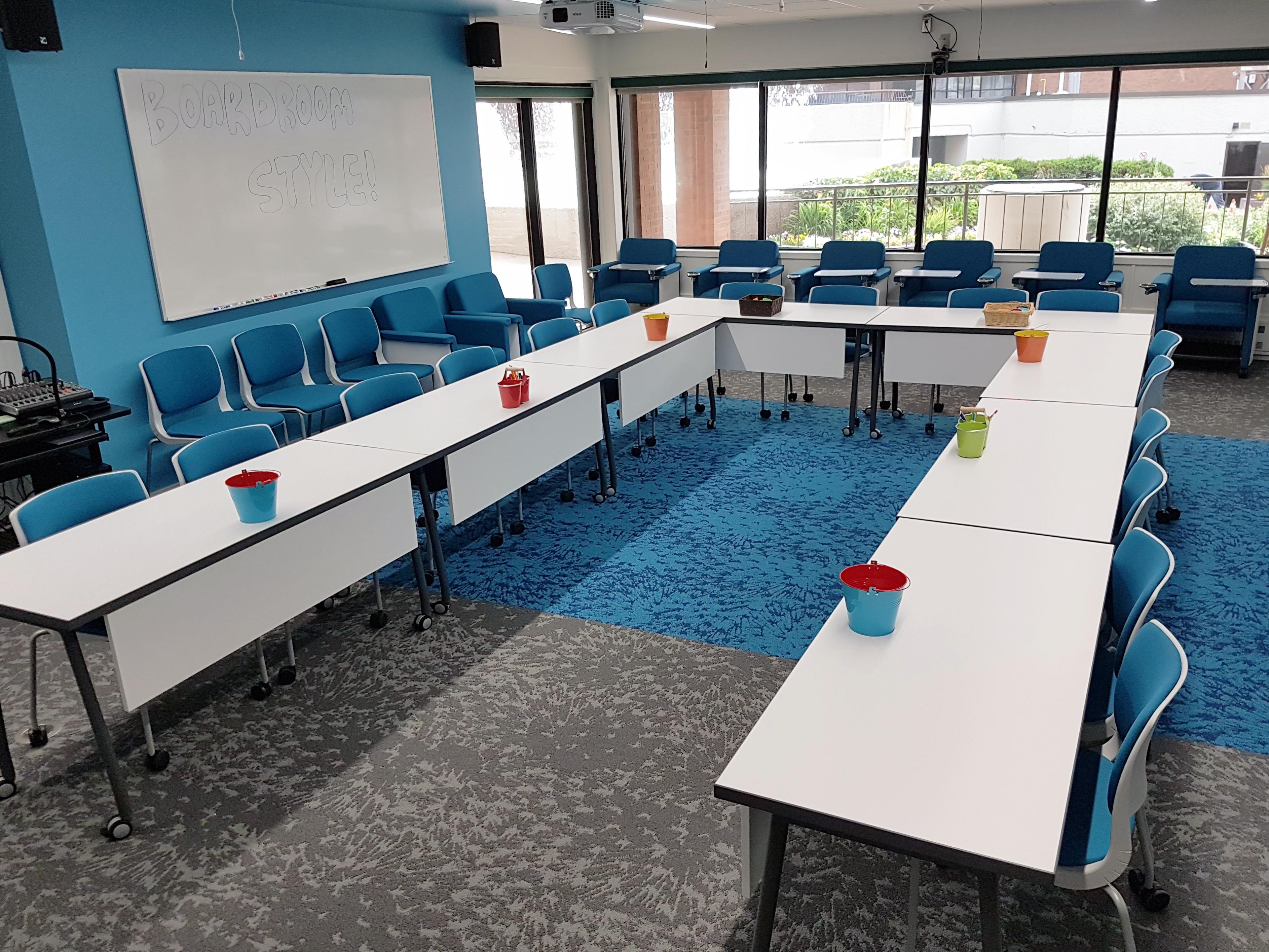 Hub Classroom Boardroom Style
