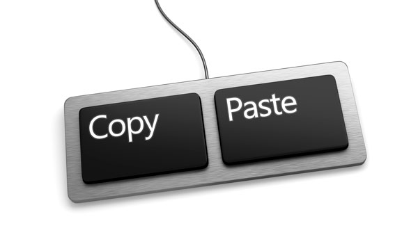 Keyboard with copy and paste buttons
