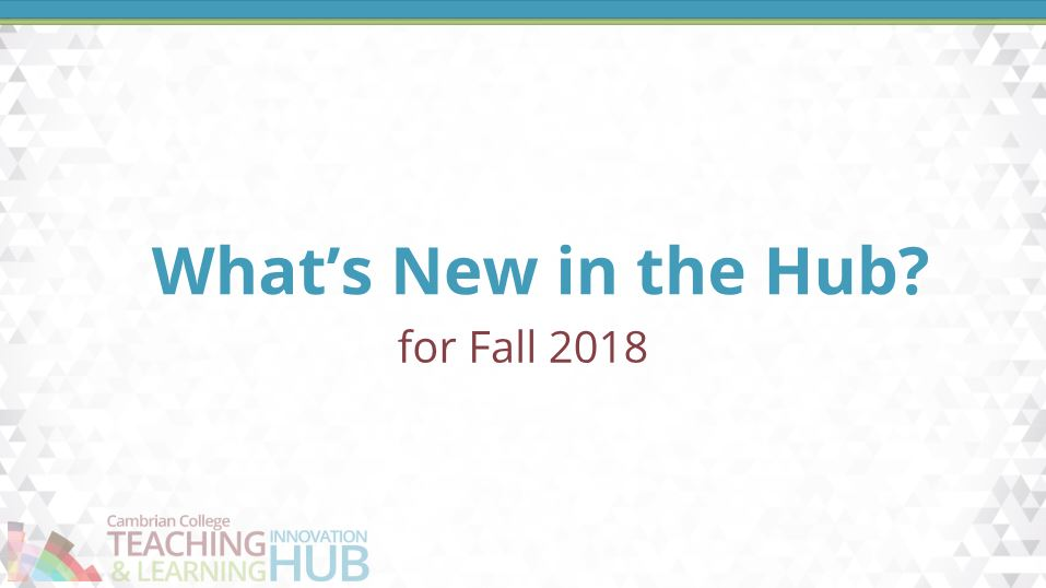 What's New in the Hub