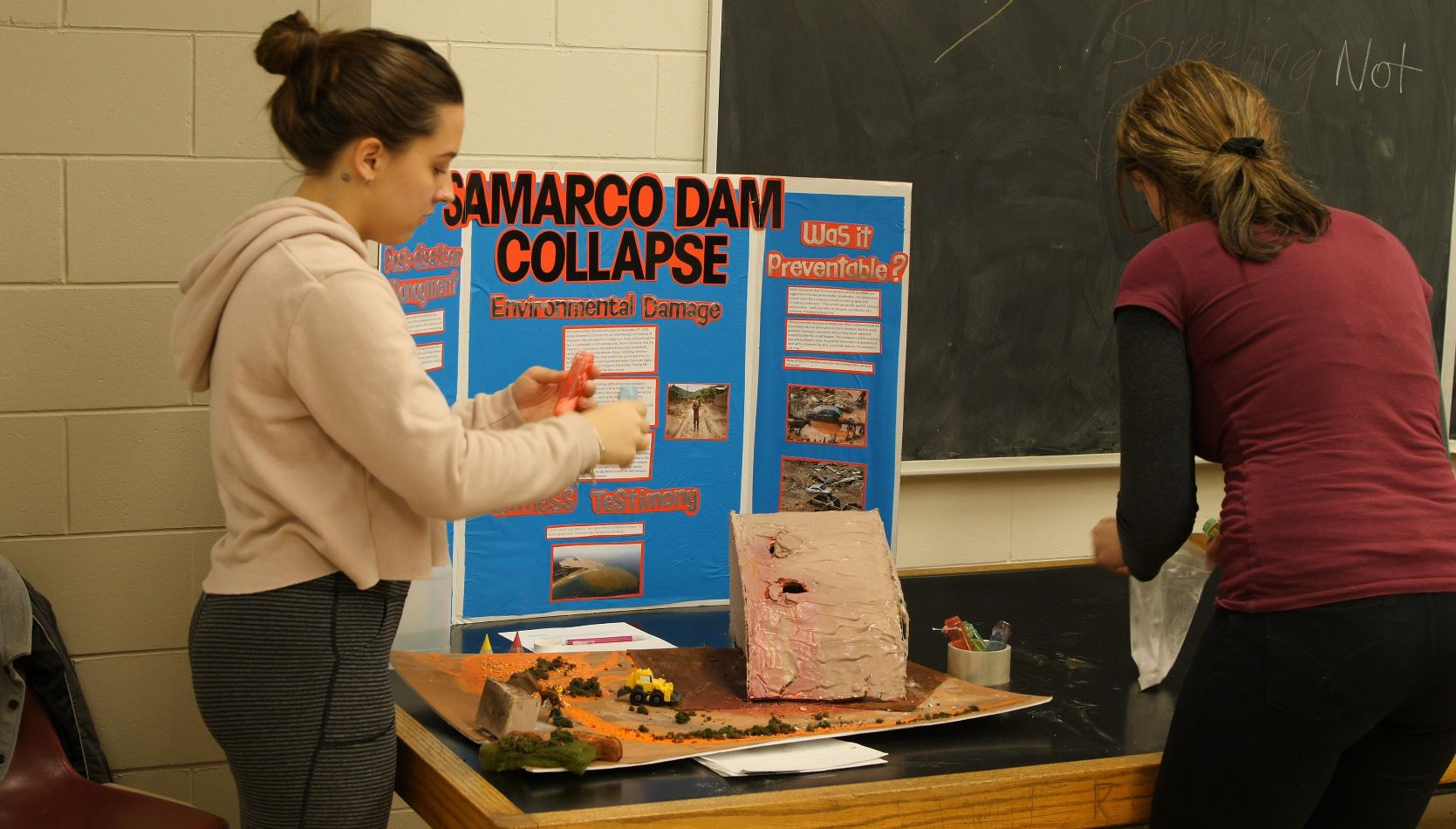 Photo of a student display at the tradeshow