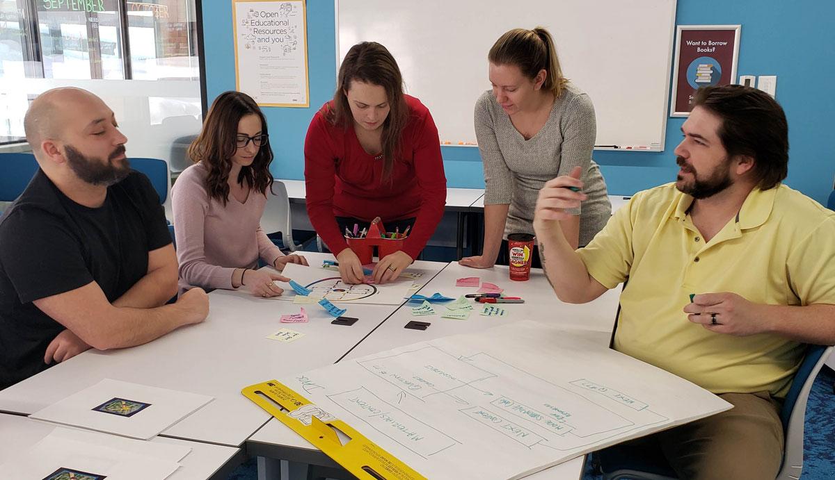 Hub team testing game design workshop