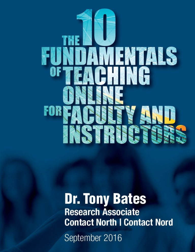 Cover of the 10 funamentals of teaching online for faculty and instructors