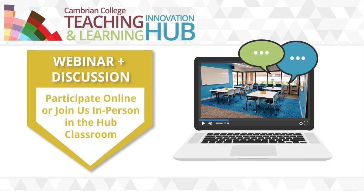 Participate online on your own or join us in the Hub classroom where we will view together and have a discussion.