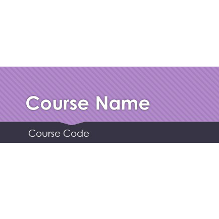 Sample Moodle Header