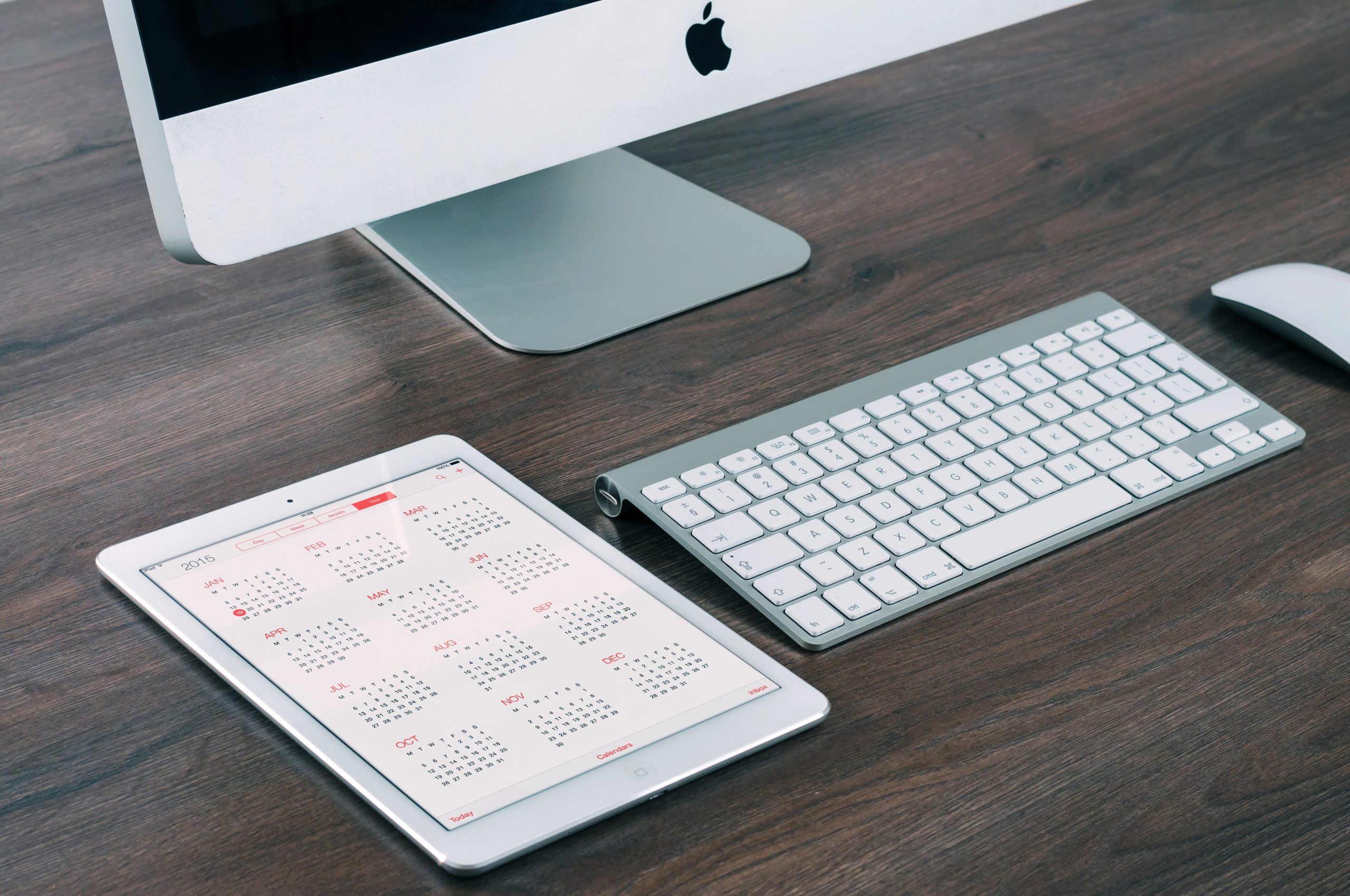 Calendar on iPad and Mac Desktop
