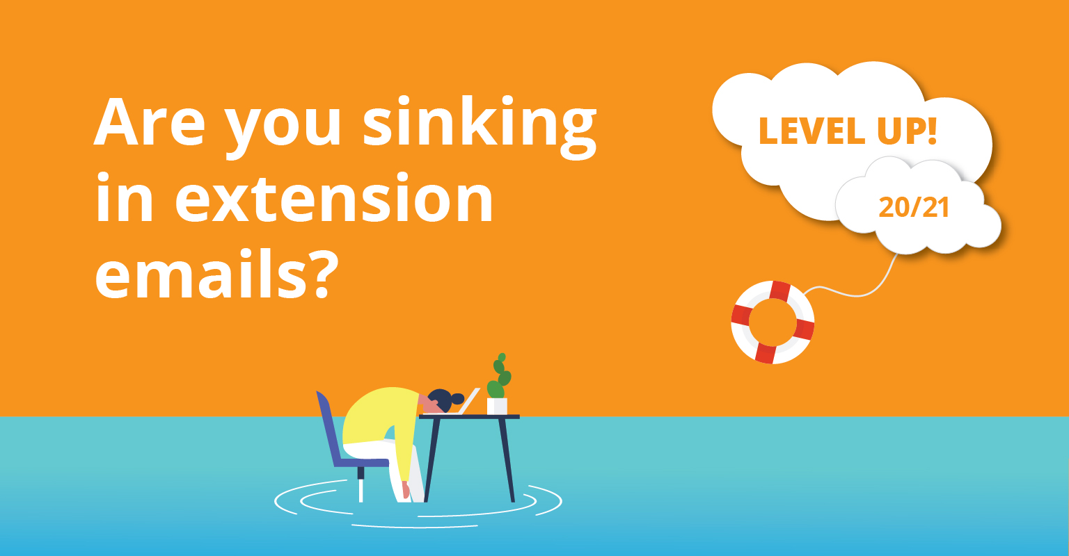 Are you sinking in extension emails?